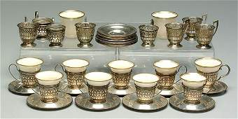 658 Lenox and sterling demitasse cups