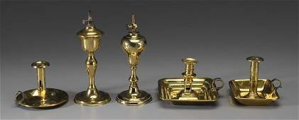 0203 Five Brass Lighting Devices