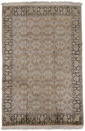Hand-Woven Floral Rug