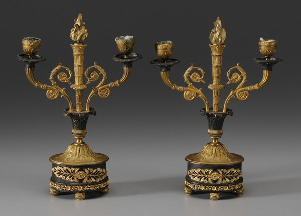 0319: Pair Gilt Bronze Empire Style