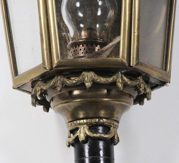 0332: Pair Brass and Iron Coach Lanterns - 3