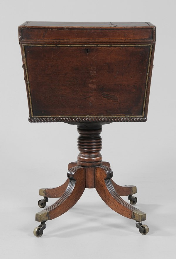 0333: Regency Inlaid Mahogany Cellaret
