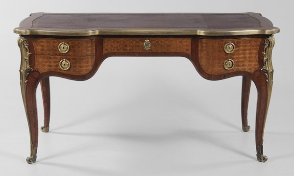 0432: Louis XV Style Parquetry-Inlaid