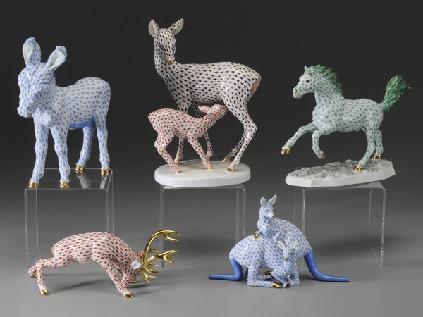 0516: Five Herend Animal Figures