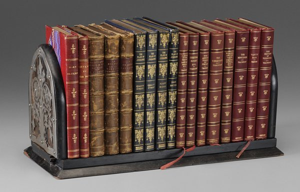 0604: Seventeen Leather Bound Books,