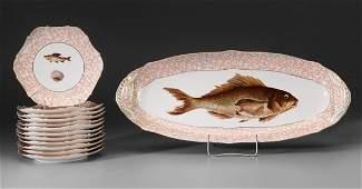 0394: Thirteen-Piece Limoges Fish Set