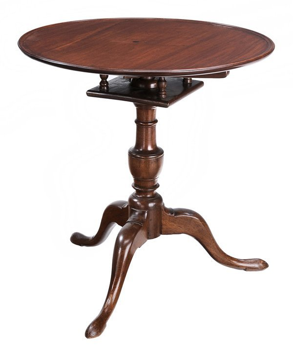 Chippendale Walnut Dish-Top Tea Table