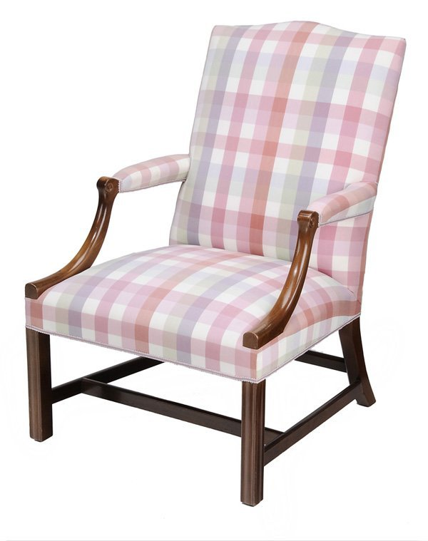 0904: Federal Style Mahogany Lolling Chair