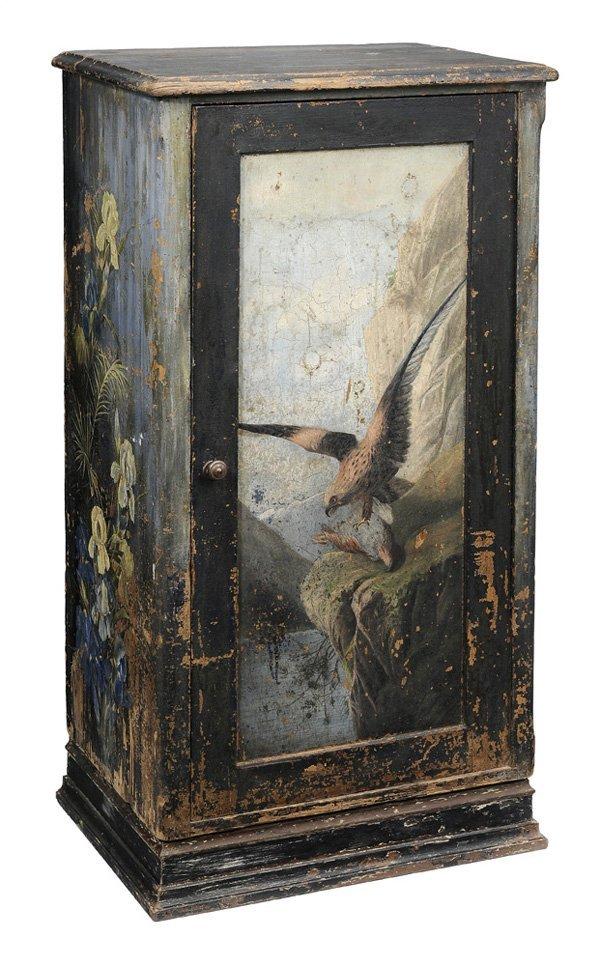 0911: Rustic Paint-Decorated Panel-Door
