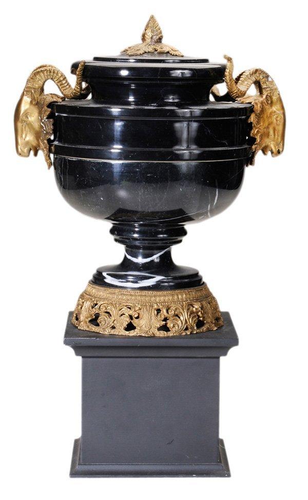 0916: Lidded Marble Urn