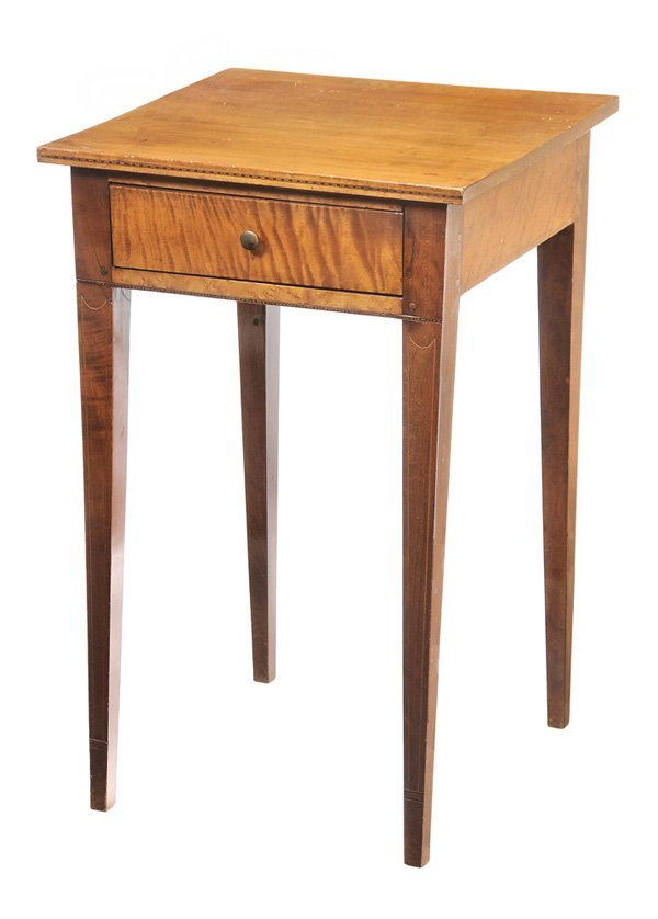 0919: Federal Inlaid Tiger Maple Table