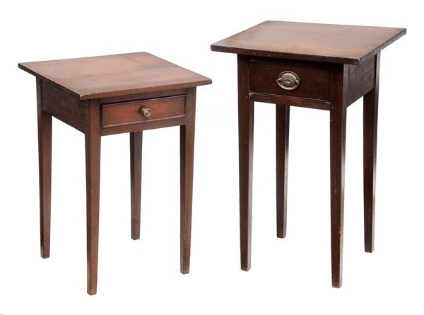 0920: Two Similar Federal Cherry One-Drawer