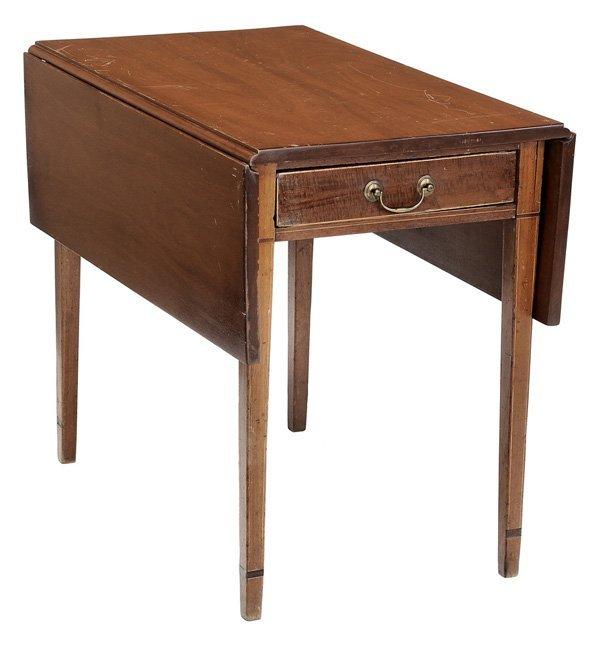 0922: American Federal Inlaid Pembroke Table