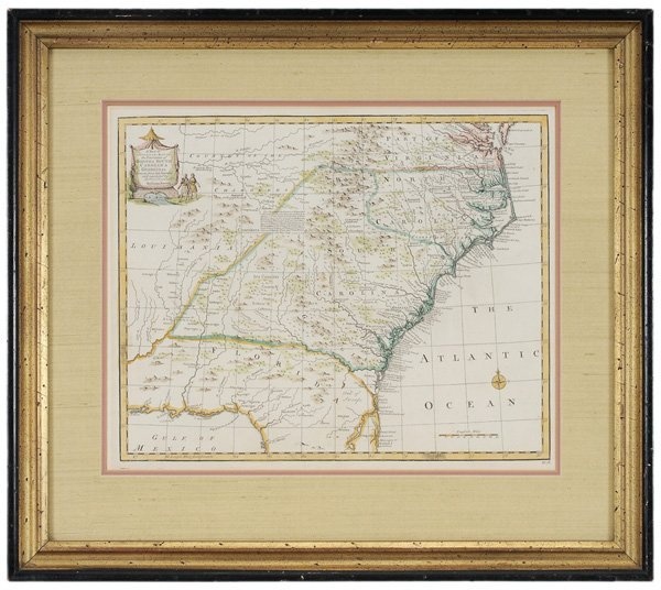 1081: 18th Century Map of the Southeast