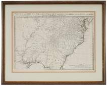 1093 18th Century Map of the Southeast