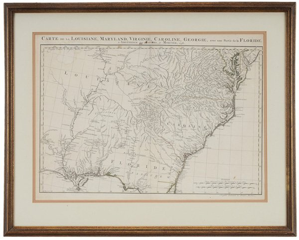 1093: 18th Century Map of the Southeast