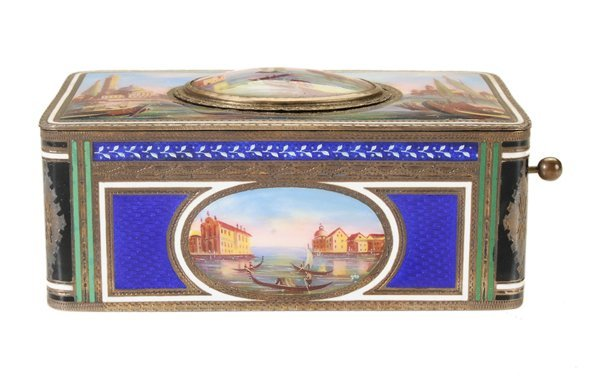 Very Fine Enameled and Parcel Gilt