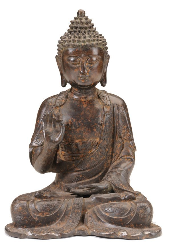 Cast Bronze Figure of Seated Buddha