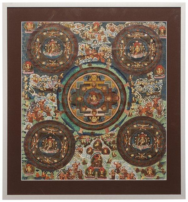 Finely Painted Tibetan Thangka