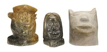 Three Shona Carved Stone Sculptures