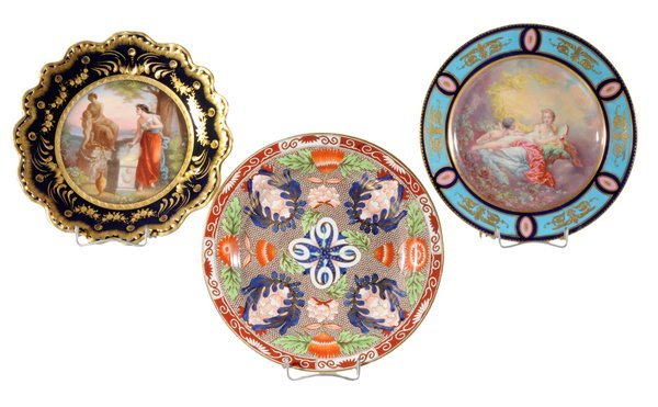3: Three Porcelain Cabinet Plates, Old