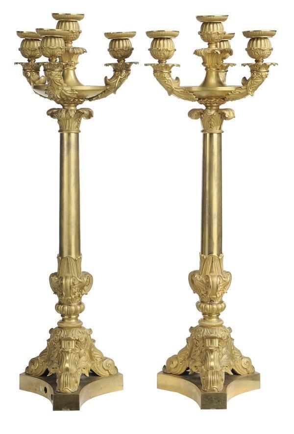 10: Pair Fine Gilt Bronze Renaissance