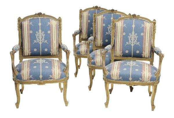 16: Set of Four Louis XV Style Carved and
