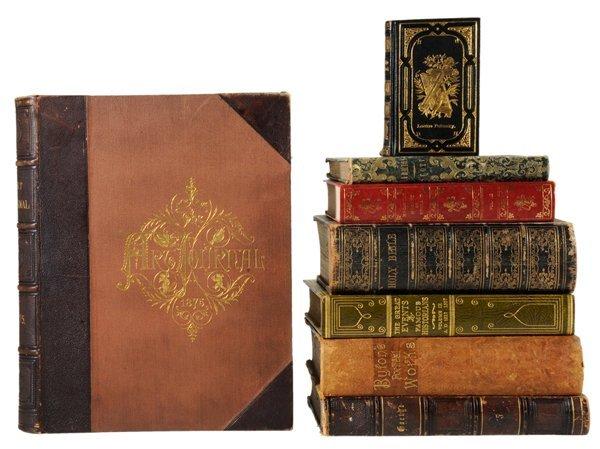 17: Twenty-Three Leather-Bound Books
