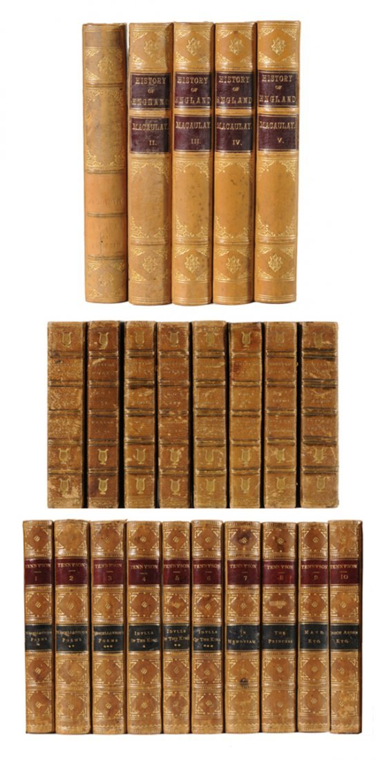 18: Twenty-Three Leather-Bound Books,