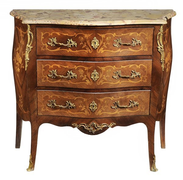 738: Louis XV Style Marble-Top Commode