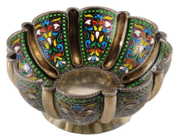 Khlebnikov Russian Gilt Silver Plique