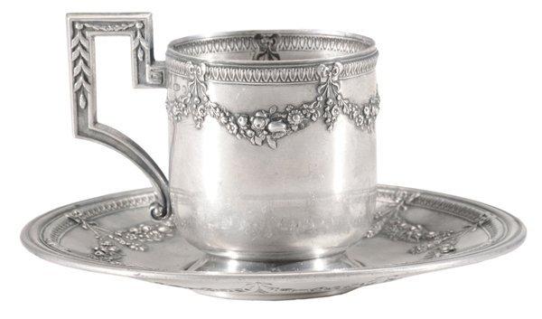 Khlebnikov Russian Silver Teacup