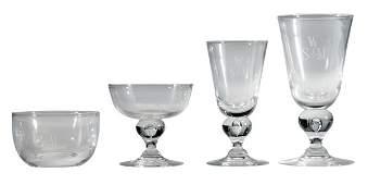 Steuben Crystal Stemware, 36 Pieces