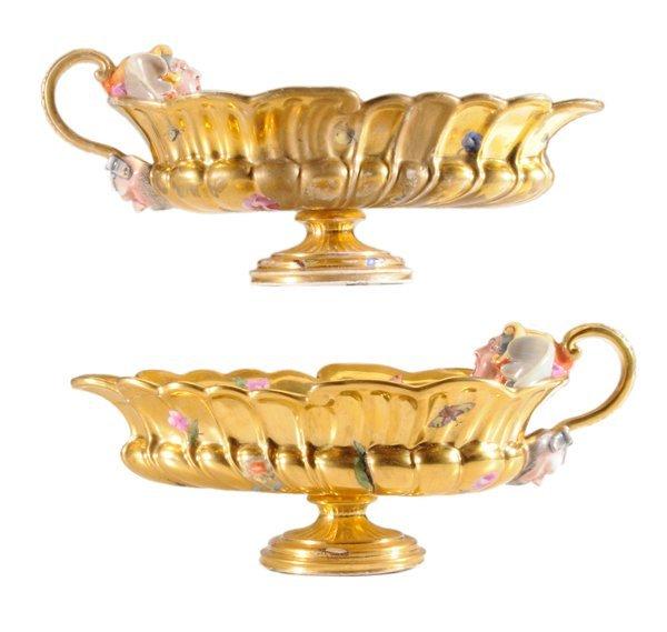 Pair Porcelain Sauceboats