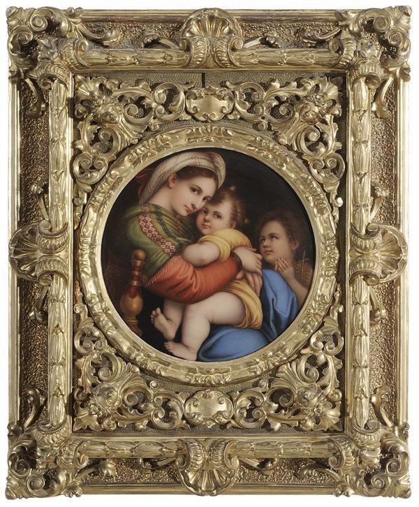 Porcelain Plaque After Raphael