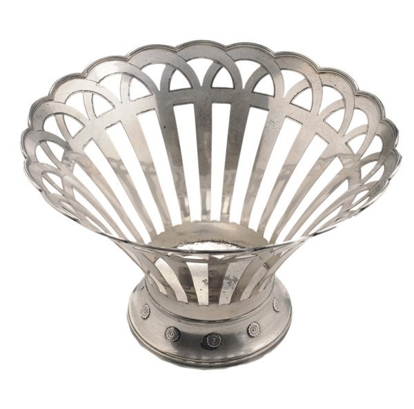 Whiting Sterling Openwork Basket
