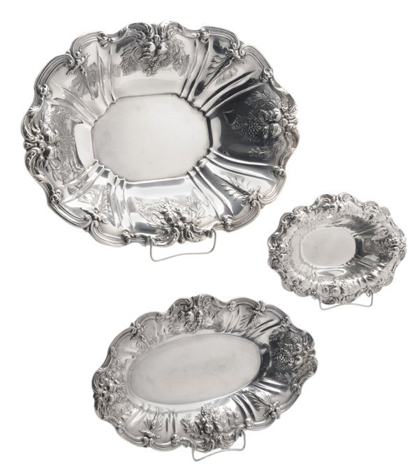 Pair Francis I Sterling Oval Bowls