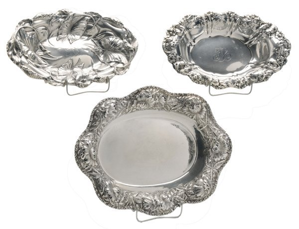 Three Oval Sterling Bowls