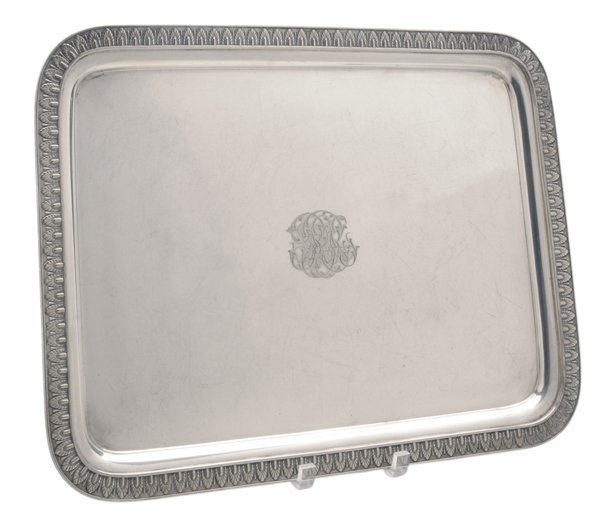 Tiffany Silver-Plate Tray