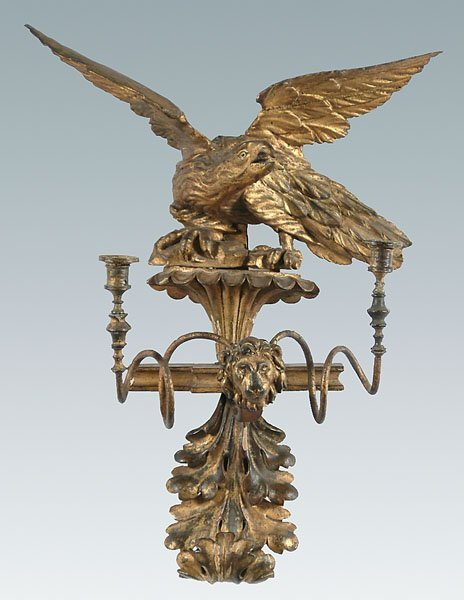 1: Gilt wood sconce with eagle,