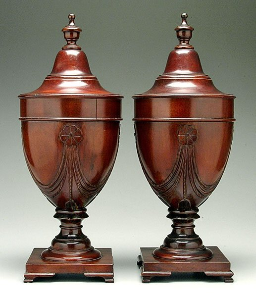 9: Pair Federal-style knife urns,