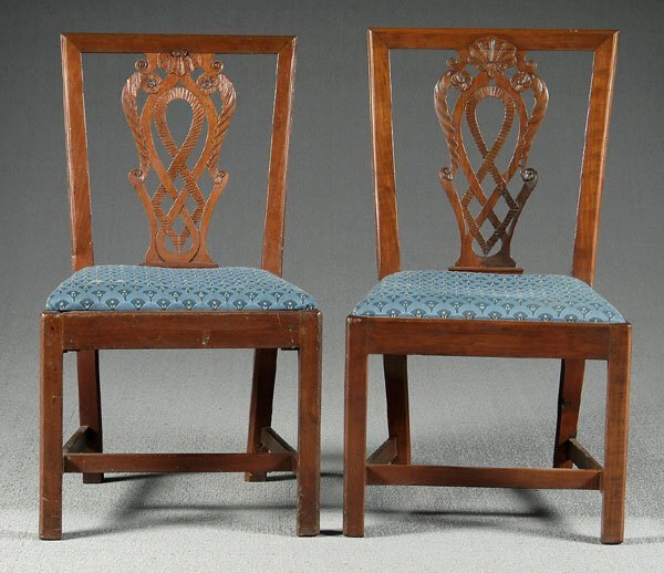 16: Two 18th century Chippendale chairs,