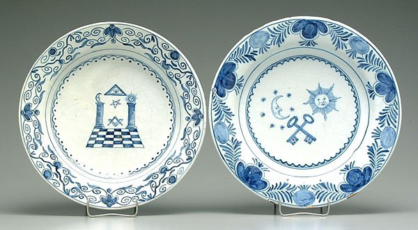 20: Two faience bowls: