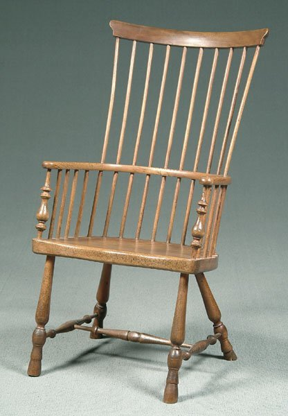 23: Comb back English Windsor armchair,