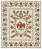 121: Floral appliqué quilt,