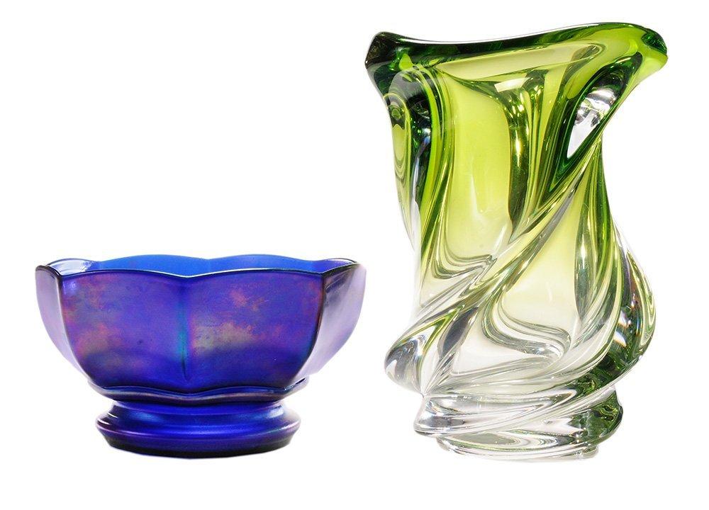 Val St. Lambert Glass Vase