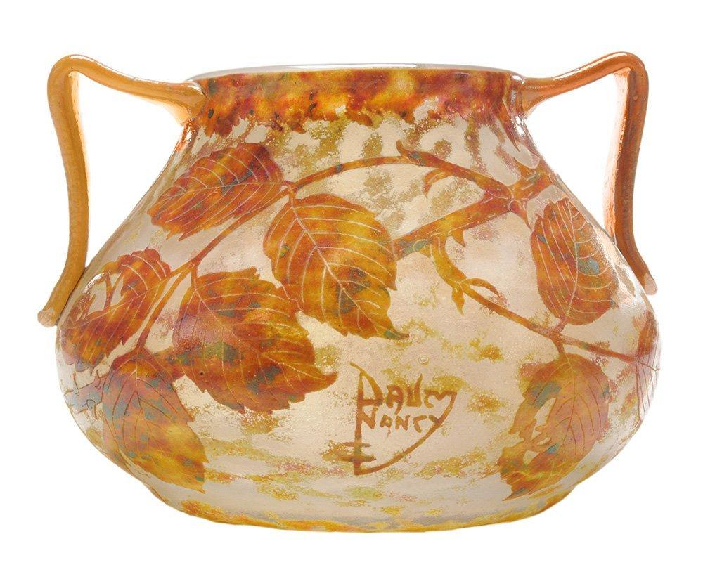 Daum Nancy Cameo Glass Bowl