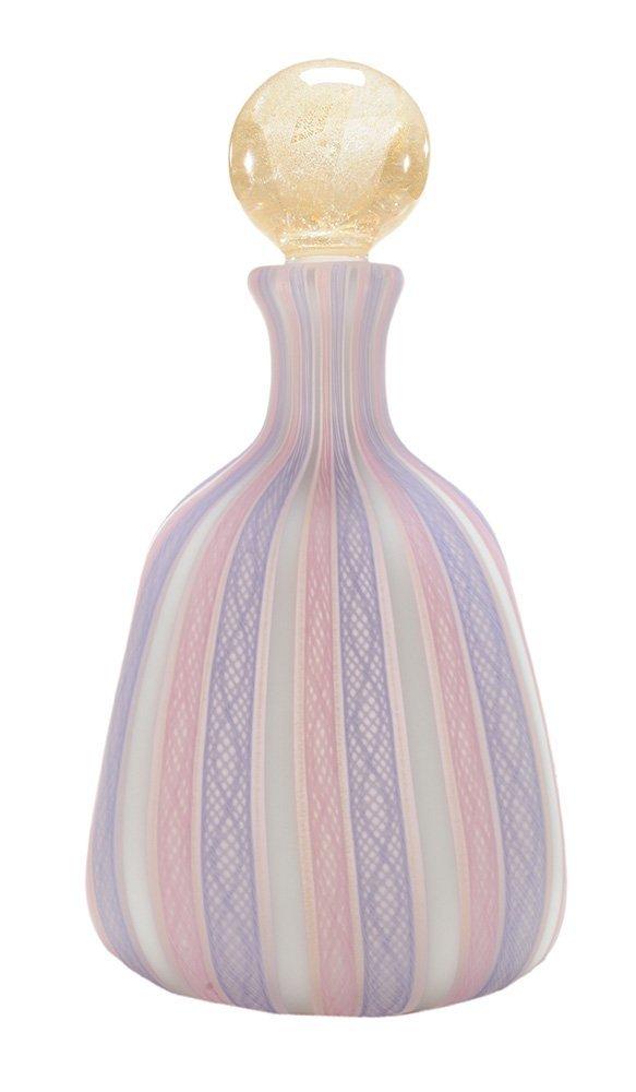 Venetian Style Blown Glass Decanter