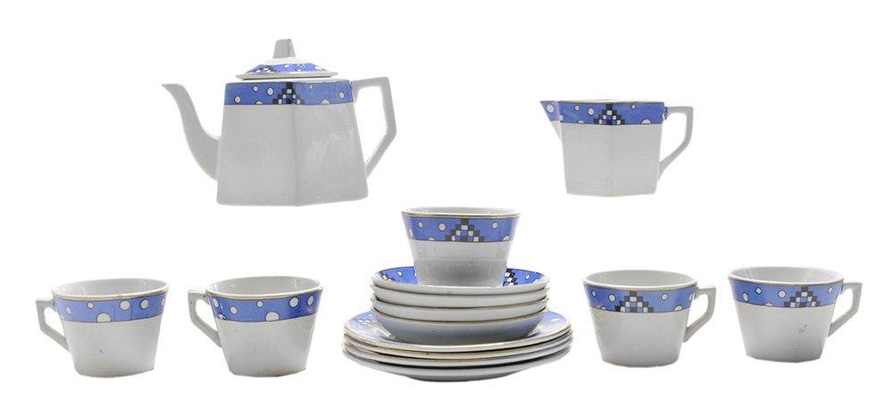 Art Deco Ceramic Children's Tea Set