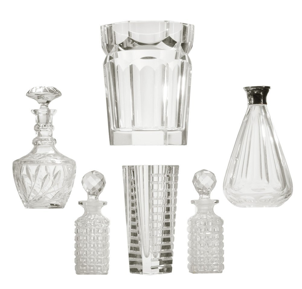 Orrefors Vase, Lucite Ice Bucket and